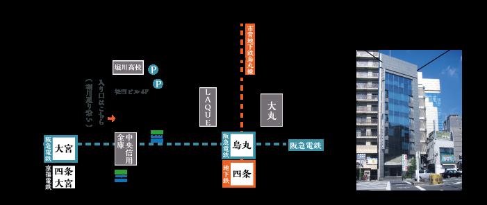京都のれんへのアクセス